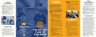 Donations Brochure Image